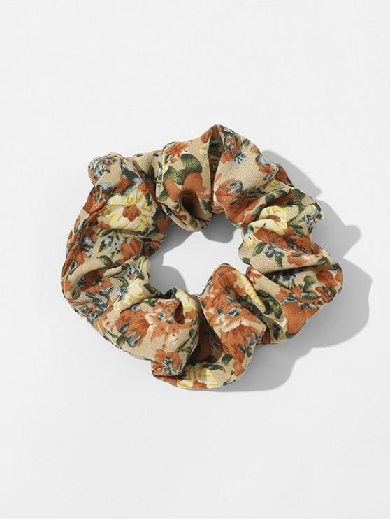 outfits Ditsy Floral Fabric Elastic Scrunchie - DEEP YELLOW