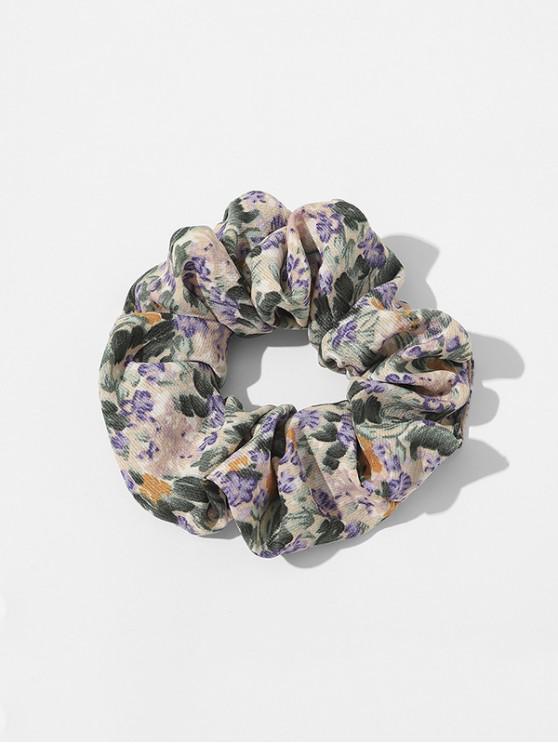 latest Ditsy Floral Fabric Elastic Scrunchie - PURPLE