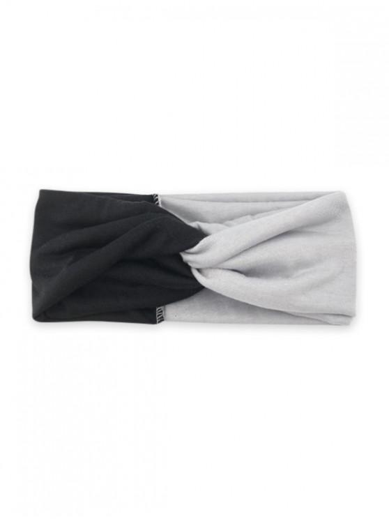 Colorblock Yoga Fitness Headband Wide - gri Negru Negru