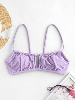 ZAFUL Cutout Bikini Top - Light Purple S