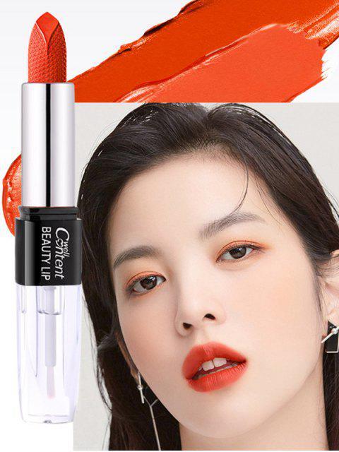 Matte Waterproof Long Lasting Double Sided Lipstick - Orange  Mobile