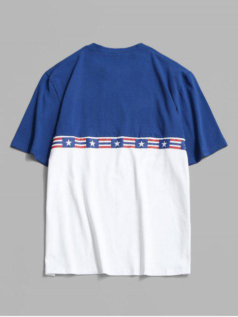 shops American Flag Colorblock T-shirt - WHITE S Mobile