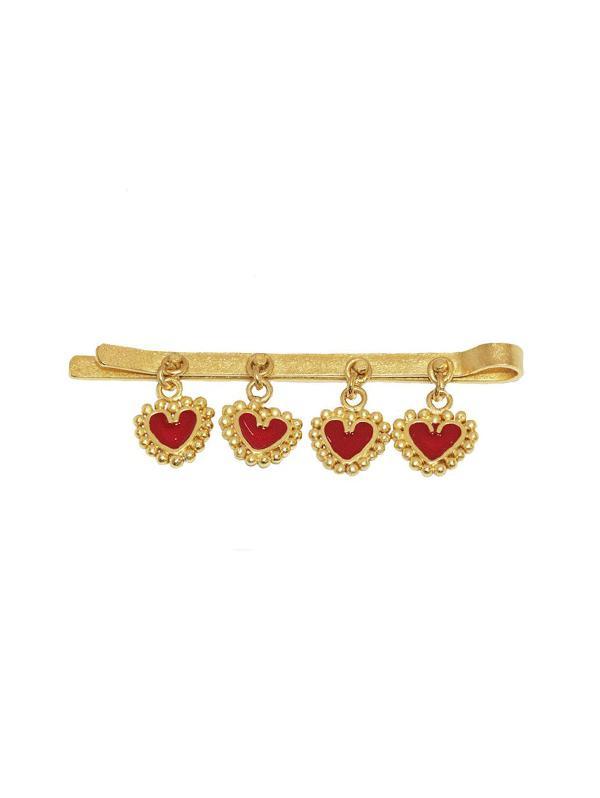 Heart Pendant Design Alloy Hairpin