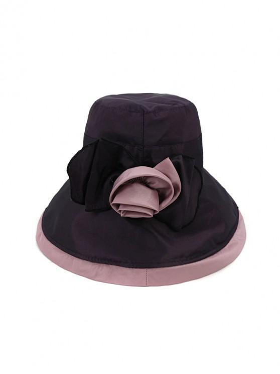 Bowknot Wide Brim Bucket Hat - أرجواني