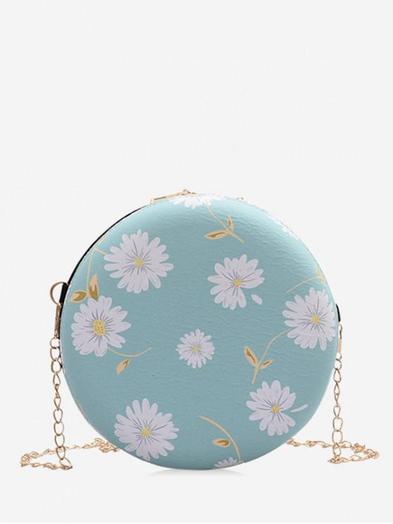 fashion Daisy Print Chain Canteen Bag - LIGHT GREEN
