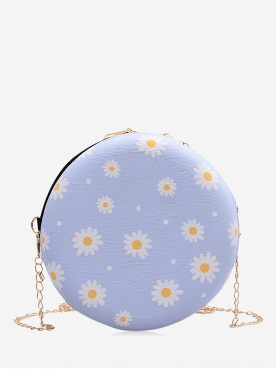 Daisy Chain Print Cantinei Bag - Albastru deschis