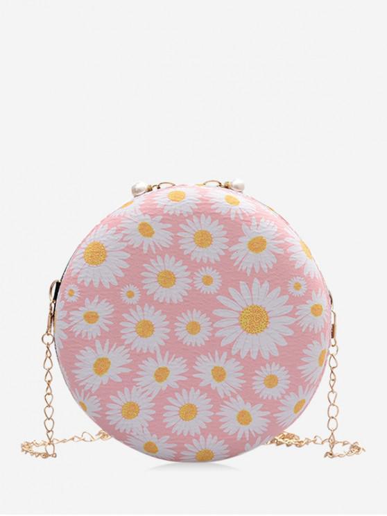 shops Daisy Print Chain Canteen Bag - LIGHT PINK