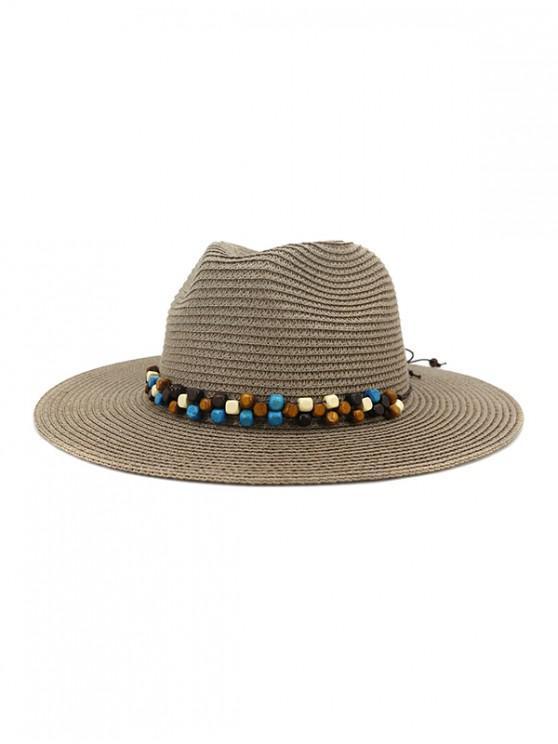 unique Beaded Embellished Jazz Straw Hat - #001