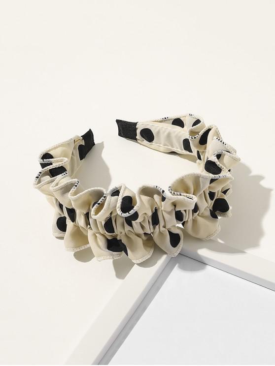 best Spotted Print Ruffled Headband - LIGHT YELLOW
