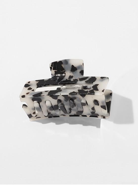 shop Leopard Pattern Hair Claw - WHITE