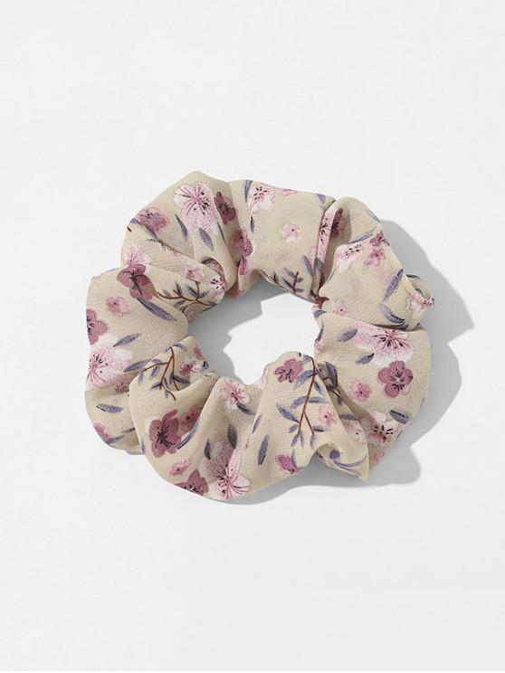 outfit Elastic Tiny Floral Print Scrunchy - WHITE