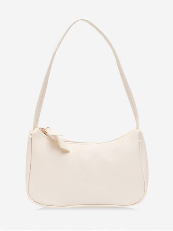 Solid umăr portabil Bag - alb