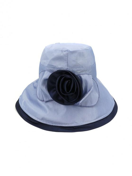 unique Bowknot Wide Brim Bucket Hat - LIGHT BLUE