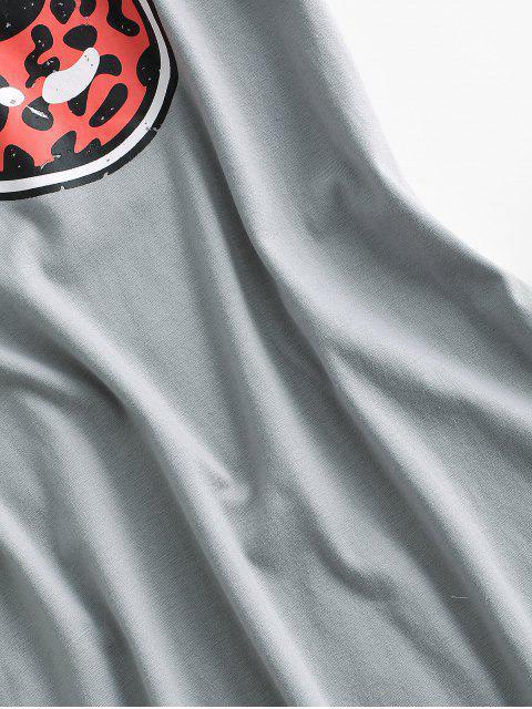 shops Lip Leopard Casual Tee Dress - GRAY L Mobile