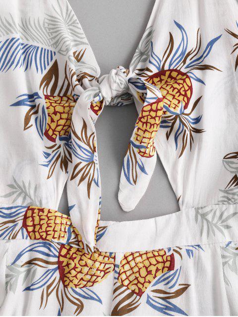 Kreuzer und Querer Ananas Strampler - Weiß L Mobile