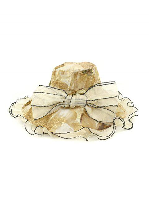 Blumen Schleife Dekoration Bucket Hut - Beige  Mobile