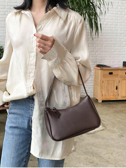 best Solid Portable Shoulder Bag - COFFEE  Mobile