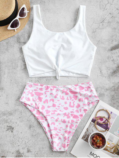 ZAFUL Costume da Bagno Tankini con Stampa Animalier - Rosa M Mobile