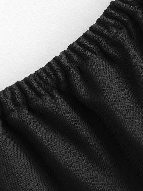 sale ZAFUL Plaited Bikini Bottom - BLACK L Mobile