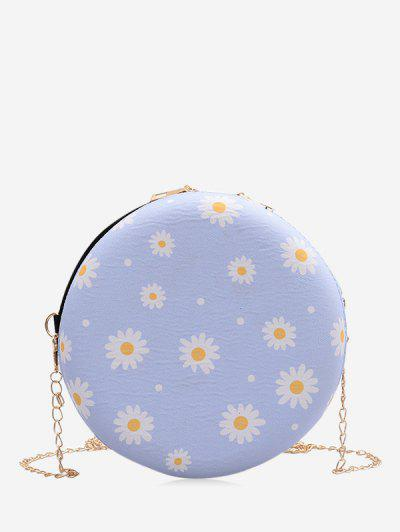 Daisy Print Chain Canteen Bag - Light Blue