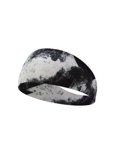 Sweat Absorbent Printing Sporting Yoga Headband - Black B12-23