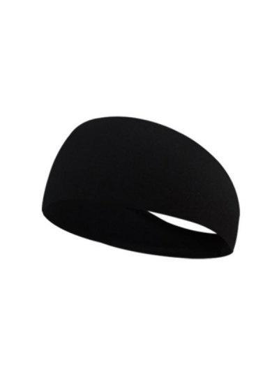 Sports Yoga Sweat Absorbent Fitness Headband - Black B85-01