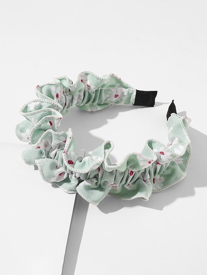 Daisy Print Ruffled Headband