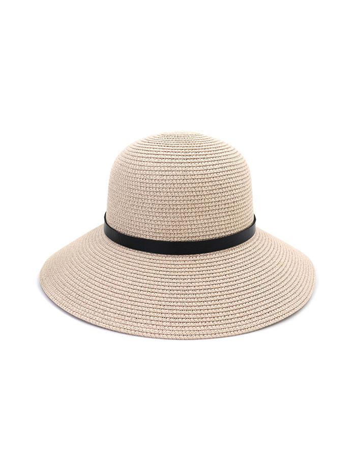 Chapeau à Ourlet Large en Paille en Cuir - Zaful FR - Modalova