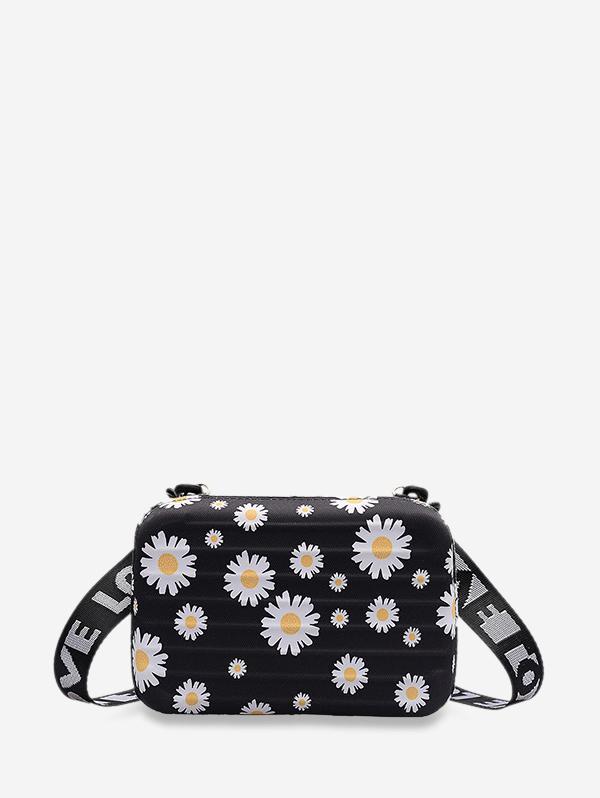 Daisy Printed Box Crossbody Bag