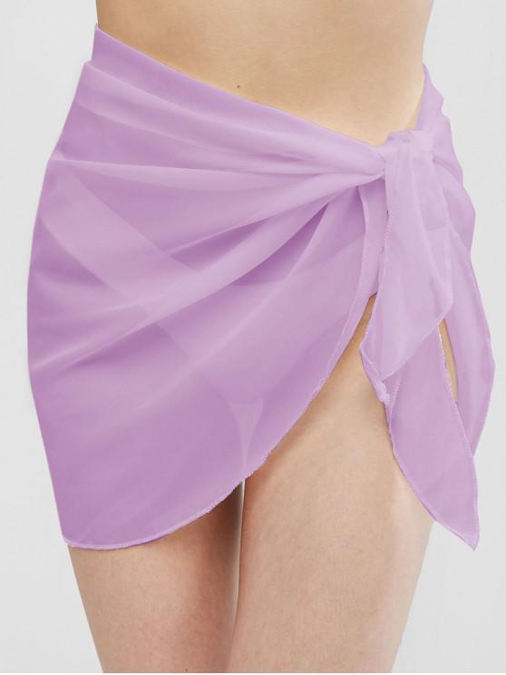 Semi-sheer Sarong - lumina violet O marime