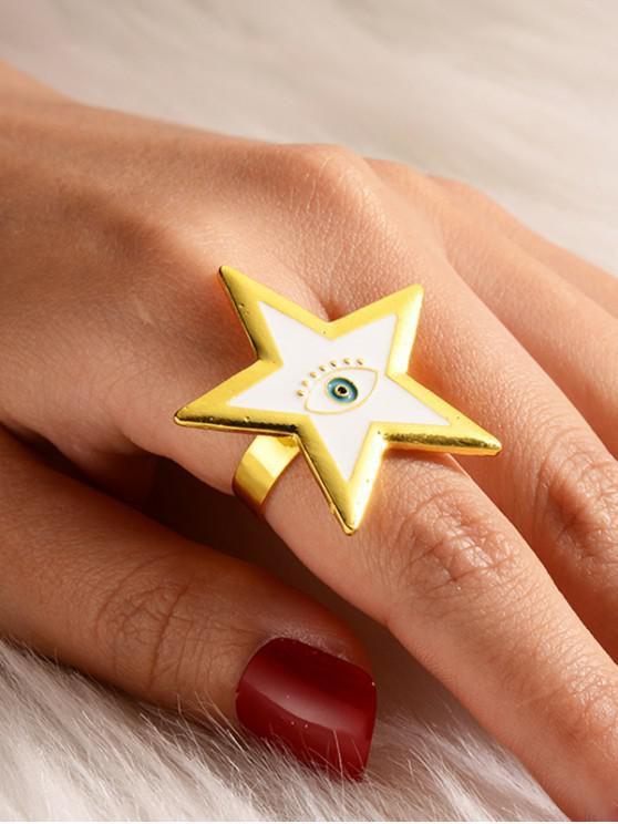 outfits Star Eye Pattern Open Ring - WHITE