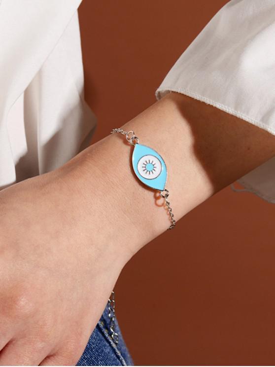 outfits Eye Shape Glazed Chain Bracelet - SILVER