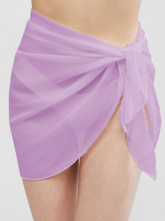 best Semi-sheer Sarong - LIGHT PURPLE ONE SIZE