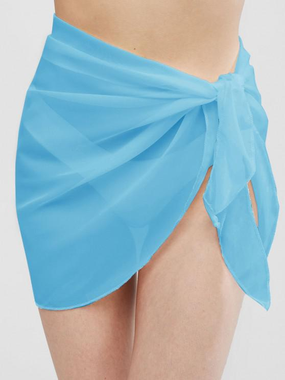 shops Semi-sheer Sarong - LIGHT BLUE ONE SIZE