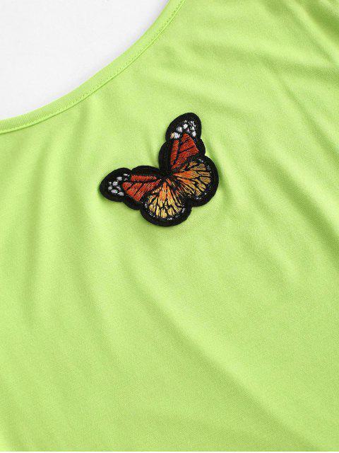 Schmetterlingsförmige Bodycon Camisole Kleid mit G Schnur - Grün M Mobile