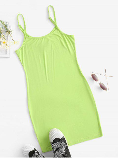 online Butterfly Patched Y2K Bodycon Cami Dress - GREEN L Mobile