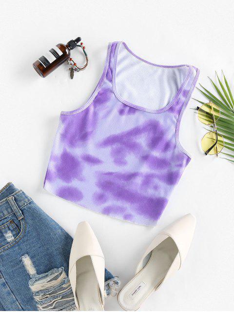 Débardeur Côtelé Teinté - Violet clair S Mobile