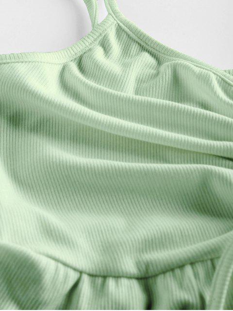 ZAFUL Enrugado Cami Top - Luz verde M Mobile