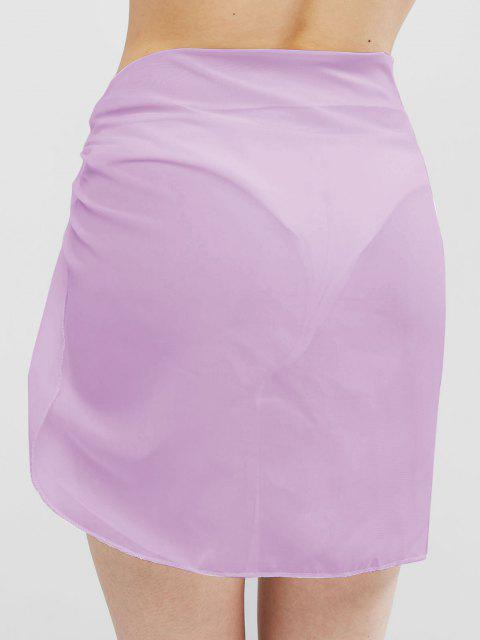 best Semi-sheer Sarong - LIGHT PURPLE ONE SIZE Mobile