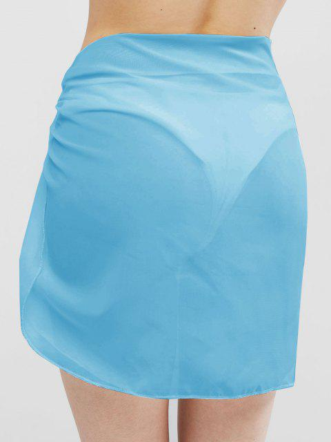 shops Semi-sheer Sarong - LIGHT BLUE ONE SIZE Mobile