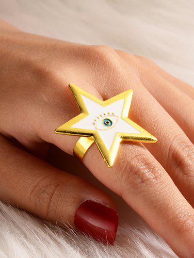Открытое Кольцо Звезда Глаз - Белый