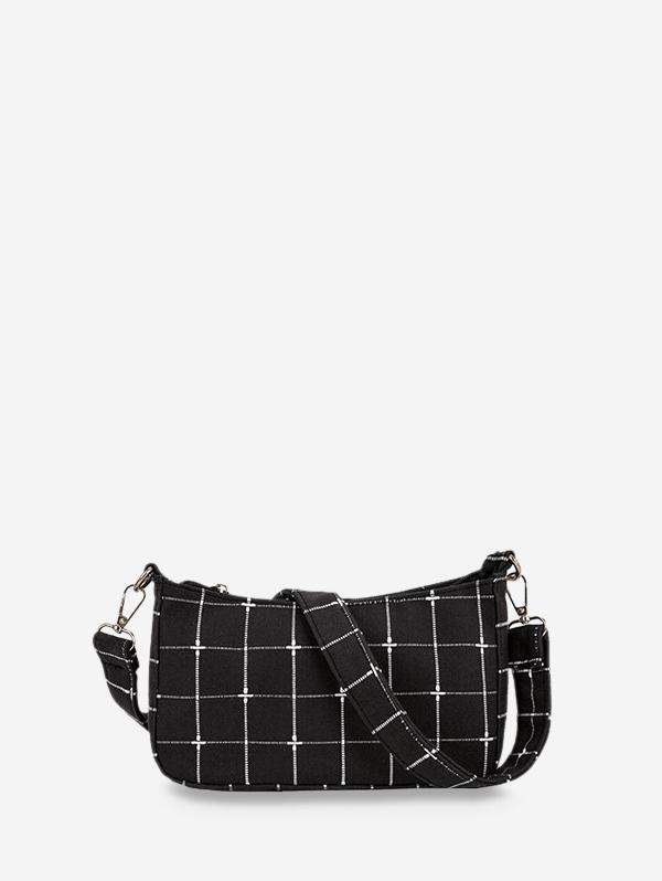 Retro Plaid Pattern Shoulder Bag