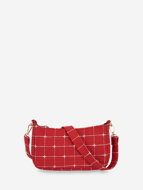 Retro Plaid Pattern Shoulder Bag