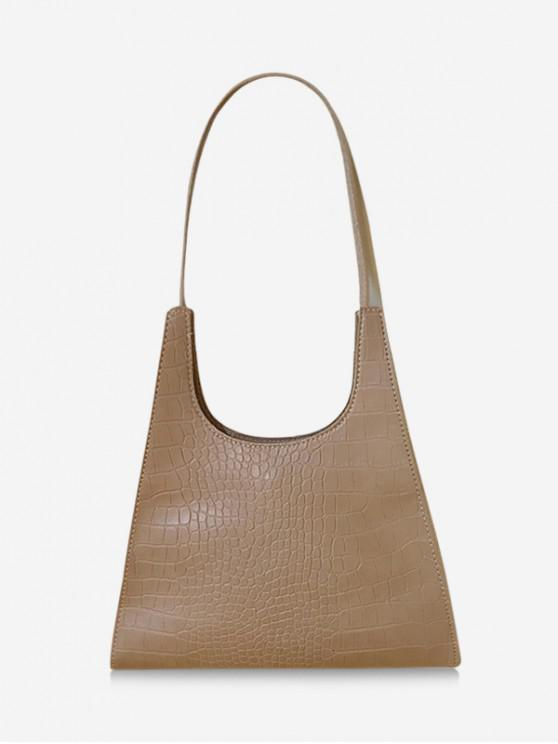 best Retro Trapezoid Shape Shoulder Bag - LIGHT COFFEE