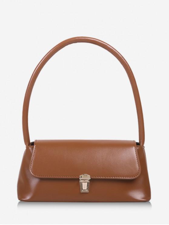 Retro dreptunghi Handbag Solid - Cafea