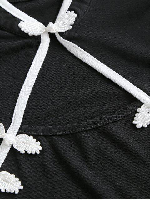 HautCourtDécoupéOriental - Noir Taille Unique Mobile