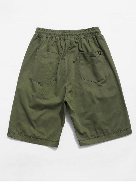 lady Letter Decoration Pocket Drawstring Shorts - ARMY GREEN 2XL Mobile