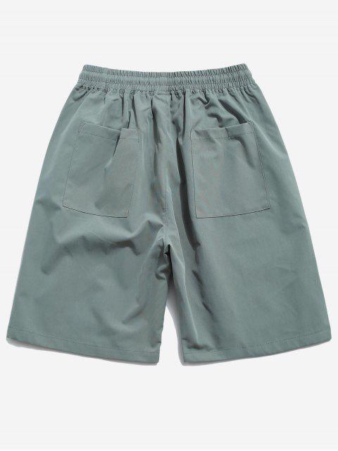 fashion Cross Print Multi-pocket Casual Shorts - GREEN XL Mobile