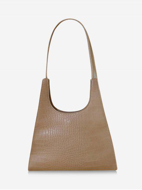 best Retro Trapezoid Shape Shoulder Bag - LIGHT COFFEE  Mobile