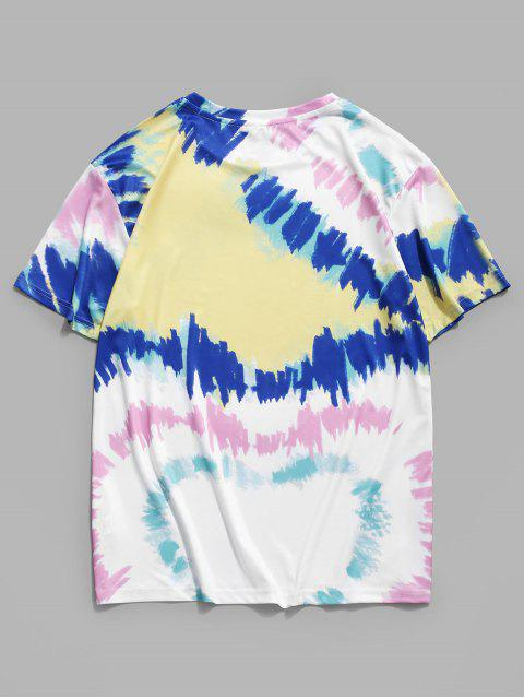 Colorful Painting Printed Casual T-shirt - حليب ابيض 3XL Mobile